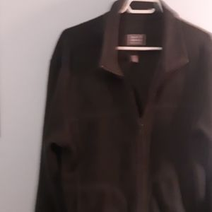 Roots zippered fleece jacket size M